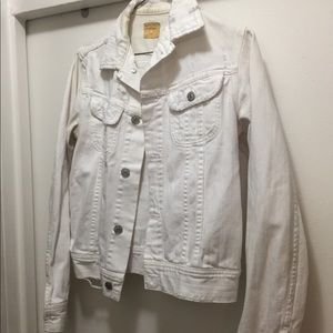 Citizens of humanity white distressed denim jacket